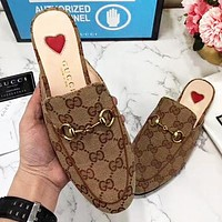 GUCCI New fashion floral more letter shoes flip flop slippers