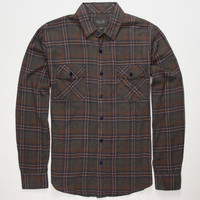 Valor Tristan Mens Flannel Shirt Charcoal  In Sizes