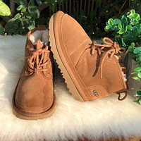 UGG hot-selling snow lace-up Martin boots fashion simple hand-sewn non-slip high-top boots fashion men and women