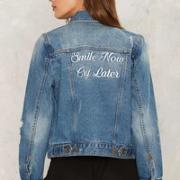 Cry Later Denim Jacket