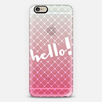 Fishnet Hello Ombre Pink/Blue iPhone 6 case by Emilee Parry | Casetify