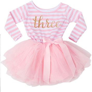 Autumn Dress For born Baby Girl Baptism Clothes Long Sleeve Girl Christening Gown Infant Princess Party Dress 1-3 Yrs