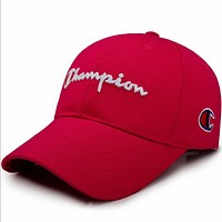 Champion spring and summer outdoor sun visor male and female baseball cap F0640-1 Red