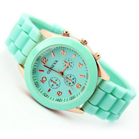 Hot sale Geneva New 2014 Luxury Fashion Designer Ladies sports brand silicone jelly watch Free shipping-in Women's Wristwatches from Watches on Aliexpress.com | Alibaba Group
