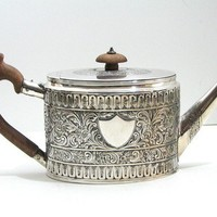 Antique English Silver Teapot by Andrew Fogelberg by Nachokitty