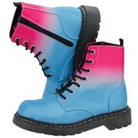 Pink Blue Ombre Anarchic Boots