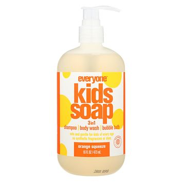 Everyone Kid Soap - Orange Squeeze - Case Of 1 - 16 Fl Oz.