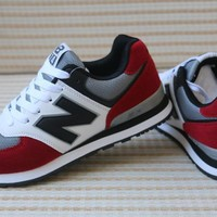 New Balance Sport Casual Multicolor N Words Breathable Unisex Sneakers Couple Running Shoes-1