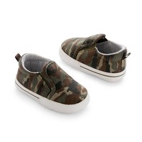 Carter's Camo Crib Shoes - Baby Boy