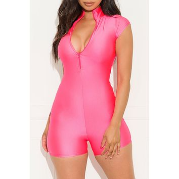 Right On Track Romper Pink