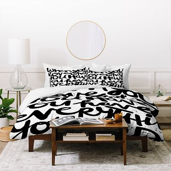 Kal Barteski If You Love Duvet Cover