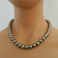 Stylish Bronze Pearl Necklace
