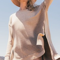 The Triblend Vacay Pullover -Simply Taupe