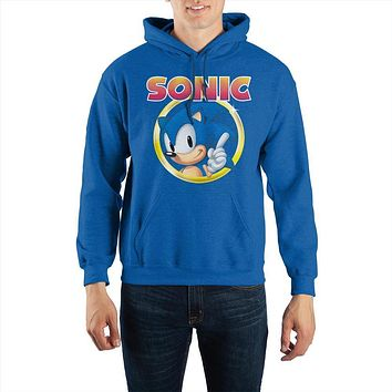Sonic The Hedgehog Pullover Hooded Sweatshirt