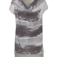 Dr. Denim Jeansmakers  Cloud Grey T-Shirt mit Front-Print - What's new