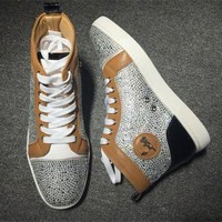 DCCK2 Cl Christian Louboutin Rhinestone Style #1933 Sneakers Fashion Shoes