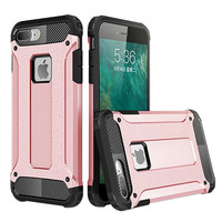 IPhone 7 Armor Hybrid Dual Layer Shockproof Touch Case Cover Rose Gold