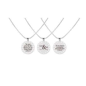 Hearts Inspirational Necklace By Pink Box