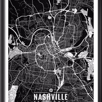 Nashville Tennessee Map with Coordinates