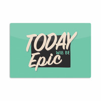 "Juan Paolo ""Epic Day"" Vintage Teal Aluminum Artistic Magnet"