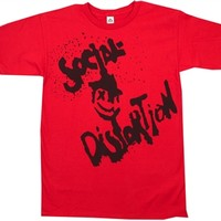 Social Distortion Happy Face Shirt from Old School tees.com | Great Selection of Social D Tee Shirts and many more Band T-Shirts from Old School Tees