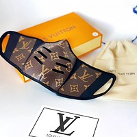 LV Masks Coffee Monogram Louis Vuitton Print Letters High quality comfortable breathable isolation mask