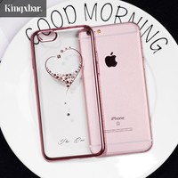 KINGXBAR for iPhone 6s 6 7 8 Plus Case Swarovski Element Crystal Diamond Luxury Case for iPhone 7 Plus 8 Plus Cover Phone Coque