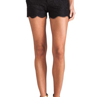 Alice + Olivia Wide Waistband Scallop Shorts in Black from REVOLVEclothing.com
