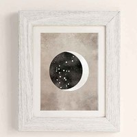 Claire Goodchild Moon & Stars Aquarius Art Print