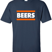 Beers Chicago Football Fan Tailgate Shirt T-Shirt Funny Bears Ducks Vintage swag mens womens ladies TShirt T-Shirt T Shirt Tee  - DT-626