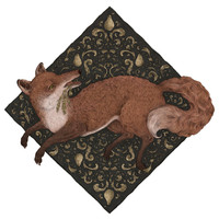 Jessica Roux's Fox Hops Wall Decal