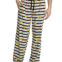 Pokemon Starters Striped Guys Pajama Pants
