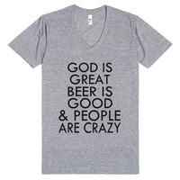 God Is Great-Unisex Athletic Grey T-Shirt
