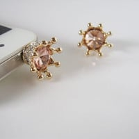 SALE TODAY Bling Bling Crown  iPhone earphone plug by bitsbybets