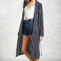 Contemporary Pinstripe Duster