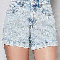 PacSun Lightning Storm Cuffed Denim Mom Shorts at PacSun.com