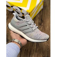 ADIDAS ULTRA BOOST UB4.0 Tide brand casual sports running shoes Grey