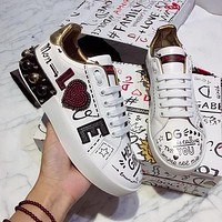 Dolce & Gabbana Fashion and Recreational Small White Shoes