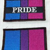 Bisexual Bi Pride Flag embroidered patch