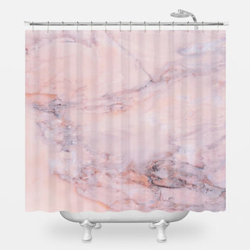 Blush Marble Shower Curtain
