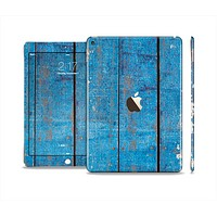 The Worn Blue Paint on Wooden Planks Skin Set for the Apple iPad Air 2