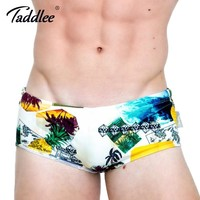 Taddlee Brand 2017 New Design Mens Swimwear Swimsuits Swimming Briefs Bikini Low Waist Gay Beach Board Boxer Trunks 3d Printed