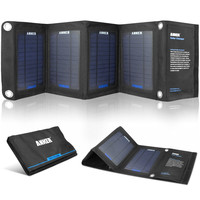 14-Watt Solar Panel Phone Or Tablet Battery Charger Powers 2 Devices At Once