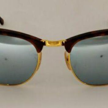 Pre-owned Ray-Ban Clubmaster , Tortoise/ Silver; Model 3016