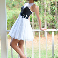 Madison James 15-101 Two Toned High Neck Homecoming Cocktail Dress SALE
