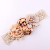 Lace Baby Headband Chic Lace Mix 4 Flower Princess Girls Headband Hair Bow Headband Baby Girl Children Hair Accessories