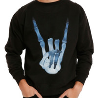 X-Ray Hands Crew Pullover
