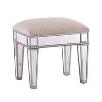 House of Hampton Kalia Mirrored Vanity Stool | Wayfair