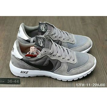 Nike MAX 90 ULTRA AIR and waffle new men and women sports shoes F-HAOXIE-ADXJ Gray + black hook