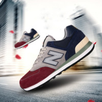 """""""New balance"""" Leisure shoes running shoes men's shoes for women's shoes couples N word Wine red grey dark blue"""